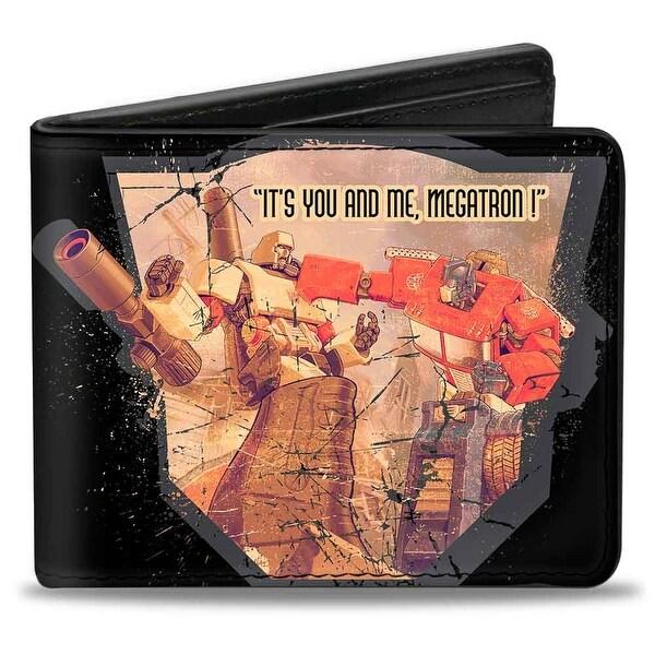 Megatron Vs. Optimus Prime It's You And Me, Megatron! + Transformers Bi Bi-Fold Wallet - One Size Fits most