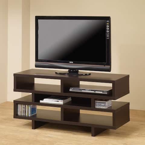 Contemporary Modern Design Cappuccino Display TV Console