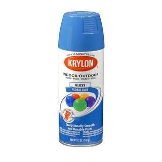 Krylon K05354600 Indoor/Outdoor Spray Paint, 12 Oz, Global Blue