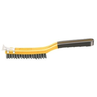 "Allway Tools SB319/SS Soft Grip Stainless Steel Wire Brush 3"" x 19"""