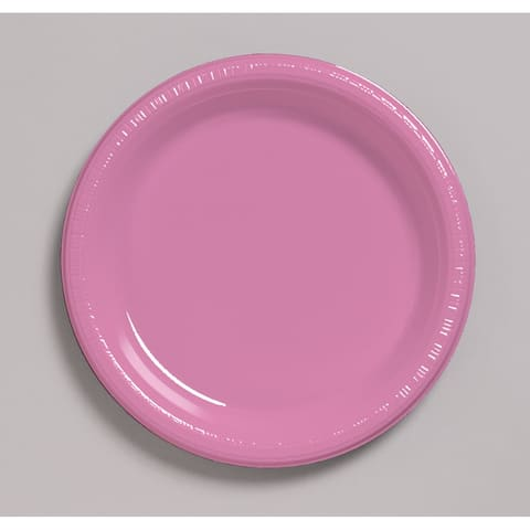 "Touch of Color 20 Count 7"" Heavy Duty Plastic Plates Candy Pink - Multi"