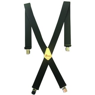 Berne Work Suspenders Mens Embossed Leather X Back Logo 1470000 - 46