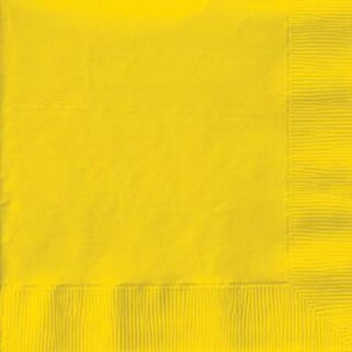 "School Bus Yellow - Luncheon Napkins 6.5""X6.5"" 50/Pkg"