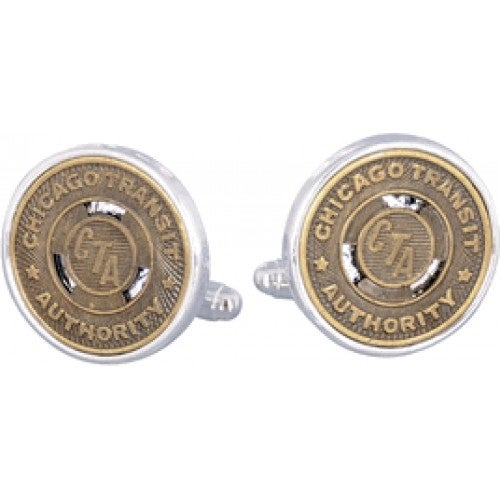 Chicago Subway Token Cufflinks Coin Collector Memorbilla