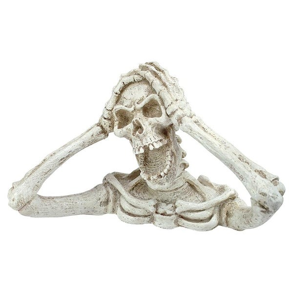 Design Toscano Halloween Shriek, the Skeleton Statue: Medium