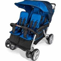 Foundations 4140037 Quad LX Stroller - Blue and Black