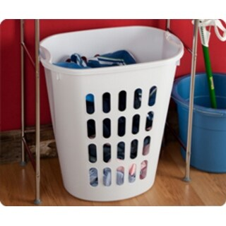 Sterilite 12568006 Open Laundry Hamper with Integrated Handles, White