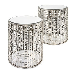 Set of 2 Dimensions Mirror Tables