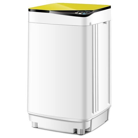 Full-Automatic Washing Machine 10 lbs Washer/Spinner Germicidal UV Light Yellow