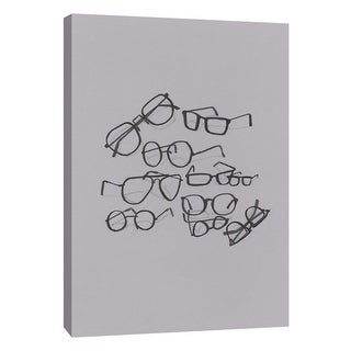 """PTM Images 9-105659  PTM Canvas Collection 10"""" x 8"""" - """"Glasses Jumble 4"""" Giclee Abstract Art Print on Canvas"""