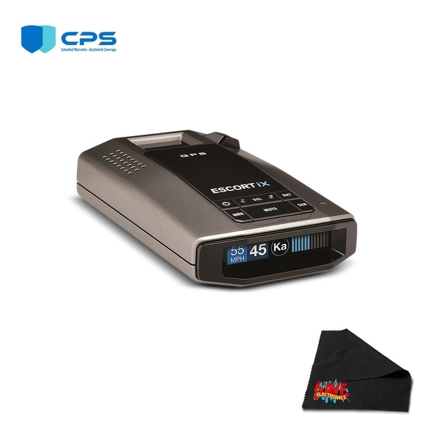 Escort iX Long Range Laser/Radar Detector with GPS, AutoLearn Technology  with 2 Year
