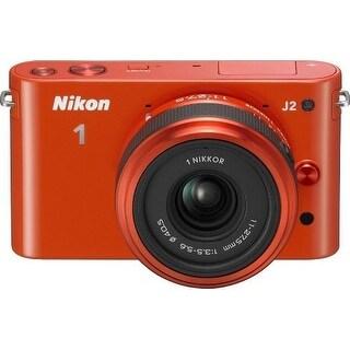 Nikon 1 J2 10.1 MP HD Camera with 11-27.5mm f/3.5-5.6 Lens (Orange) (International Model)