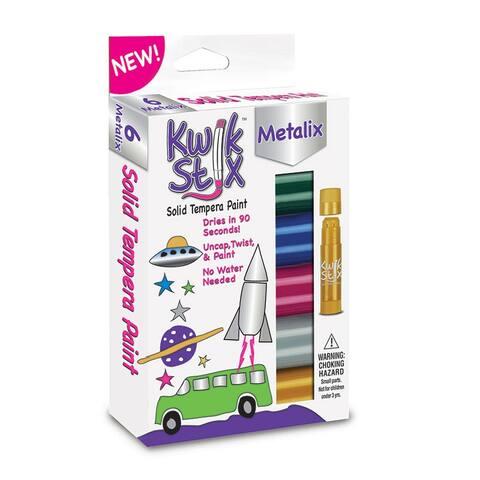 (6 Pk) Kwik Stix Solid Paint Metallic Colors 6Ct Per Pk