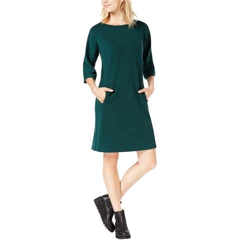 Eileen Fisher Womens Pocket Shift Dress