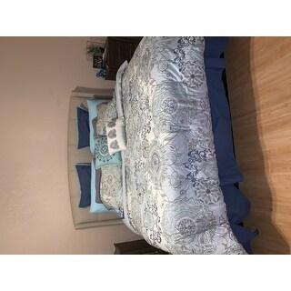 Madison Park Loleta Blue 8 Piece Cotton Reversible Comforter Set