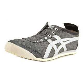 Onitsuka Tiger by Asics Mexico 66 Slip-On Women Round Toe Canvas Gray Sneakers