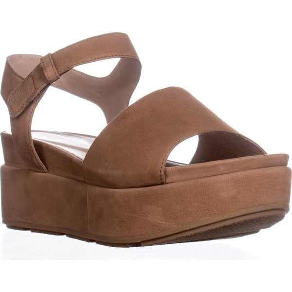 Eileen Fisher Jasper-Nu Platform Sandals, Camel - 9.5 us