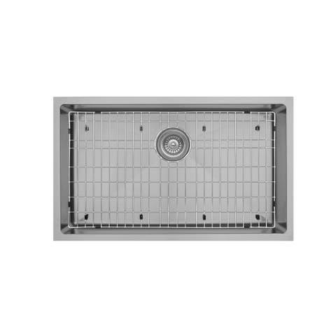 "Karran 30"" Undermount Large Single Bowl Stainless Steel Sink Kit"