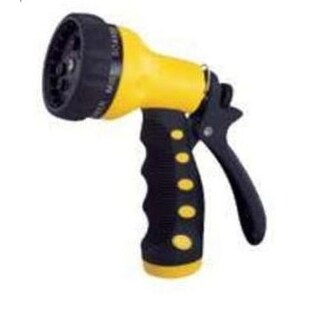 Toolbasix GN434513L 9-Pattern Garden Hose Nozzle, Yellow/Black