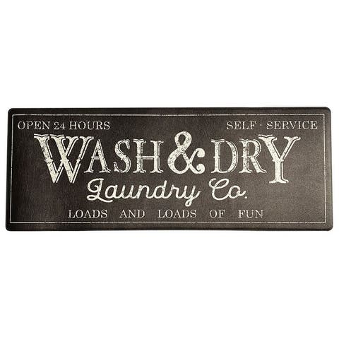 "Farmhouse Living Rustic Laundry Co. Wash and Dry Anti Fatigue Mat - 18""x48"""
