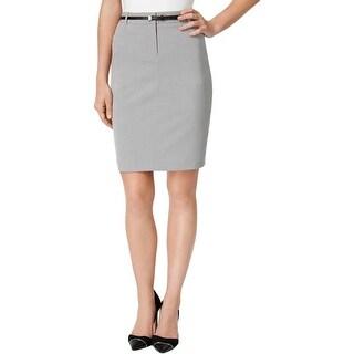 Calvin Klein Womens Petites Pencil Skirt Pockets Knee-Length