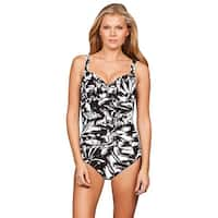 Miraclesuit Silver Show Arianna One Piece Swimsuit - BLACK/WHITE
