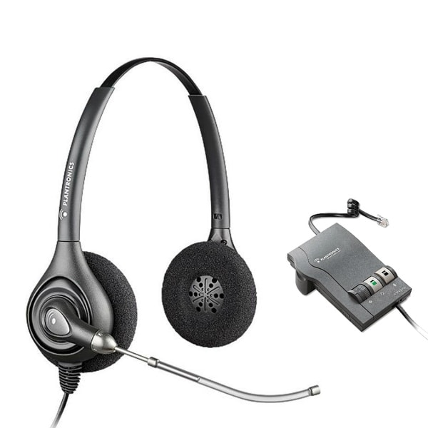 Plantronics SupraPlus HW261 with M22 Amplifier HW261 SupraPlus H-Series Binaural