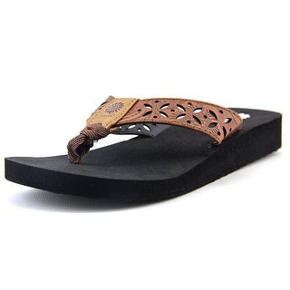 Yellow Box Damara II Youth Open Toe Synthetic Brown Thong Sandal