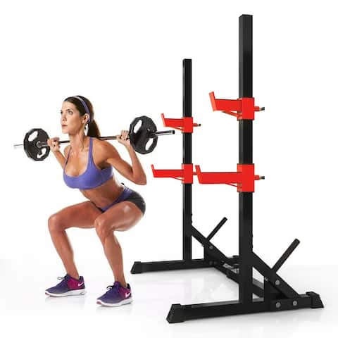 Adjustable Squat Rack Dipping Station Barbell Rack Dip Stand Lifting Bench Press Equipment(Only Rack)
