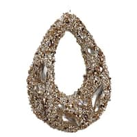 7.5 in. Golden Encrusted Sequins And Jewels Hoop Christmas Ornament