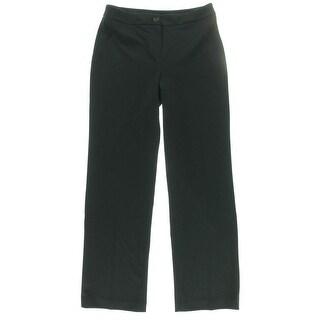 Jones New York Womens Sloane Ponte Relaxed Fit Dress Pants