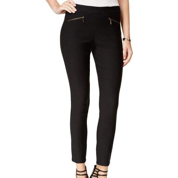 XOXO Womens Zip-Pockets Pull On Ankle Crop Pants