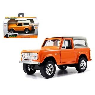 1973 Ford Bronco Orange 1/32 Diecast Model Car by Jada