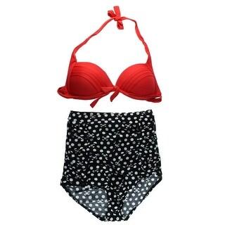 COCOSHIP Womens High Waist 2PC Bikini Swimsuit - 4XL