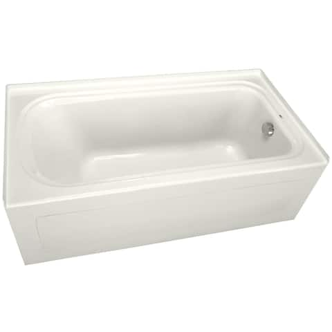 "PROFLO PFS7242RSK 72"" x 42"" Alcove Soaking Bath Tub with Skirt and Right Hand Drain"