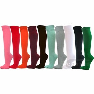 Couver Premium Quality Softball Baseball Athletic Sports Knee High Socks 12 Colors Bundle