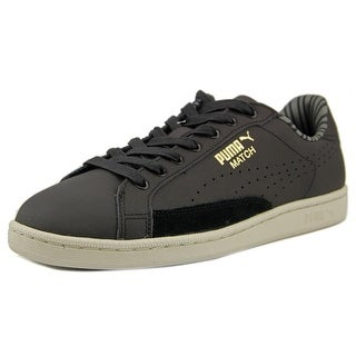 Puma Match 74 Citi Series NM Men Round Toe Leather Black Sneakers