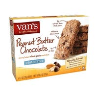 Van's Natural Foods Gluten Free Snack Bars - Peanut Butter Chocolate - Case of 6 - 1.2 oz.