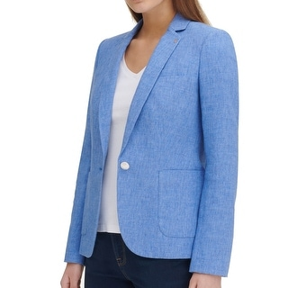 Link to Tommy Hilfiger Womens Blazer Classic Light Blue Size 4 Single Button Similar Items in Suits & Suit Separates