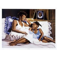 ''Pillow Talk'' by Frank Spivey African American Art Print (24 x 32 in.)