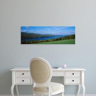 Easy Art Prints Panoramic Images's 'View Of A Lake, Keuka Lake, Finger Lakes, New York State, USA' Premium Canvas Art
