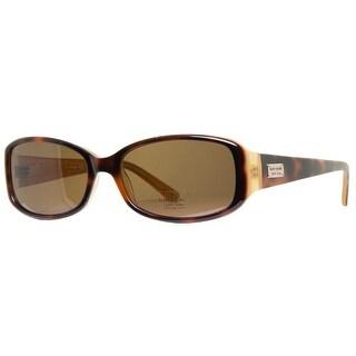 KATE SPADE Rectangular Paxton/N/S Women's EE2P VW Brown Tortoise Polarized Brown Sunglasses - 53mm-16mm-130mm
