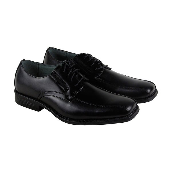 Calvin Klein Jamel Smooth Mens Black Leather Casual Dress Oxfords Shoes