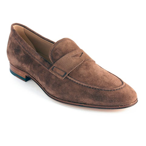 Tod's Men's Suede Loafer Shoes Brown