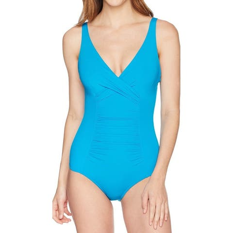 Jets by Jessika Allen Blue Womens 6 Underwire One-Piece Swimsuit