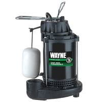 WAYNE CDU 790 1/3 HP Cast Iron Submersible Sump Pump with Automatic Switch