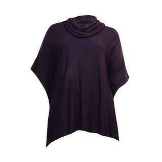 Karen Scott Women's Detachable Cowl Neck Poncho Sweater - L/XL