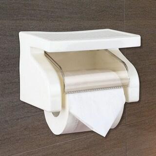Practical Toilet Paper Roll Holder w Screw Bathroom Tissue Box Water Resistant