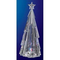 Pack of 2 Icy Crystal Decorative Modern Illuminated Christmas Tree Figures 13""