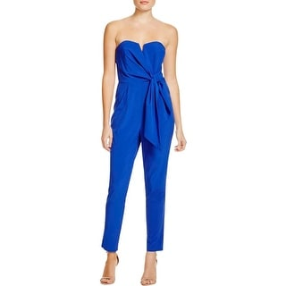 Mustard Seed Womens Jumpsuit Strapless Side Tie